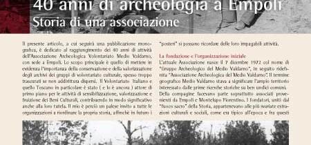 40 anni di archeologia a Empoli