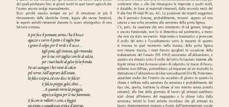 instrumentum in ferro dalla fattoria romana di Ponterotto