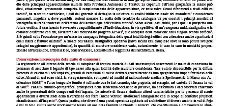Finiture superficiali nelle architetture medievali della provincia Autonoma di Trento