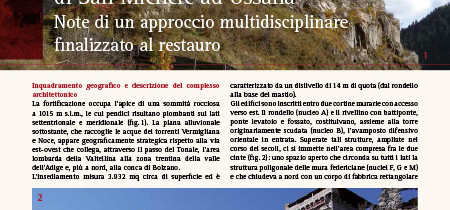 Lo studio del castello di San Michele ad Ossana