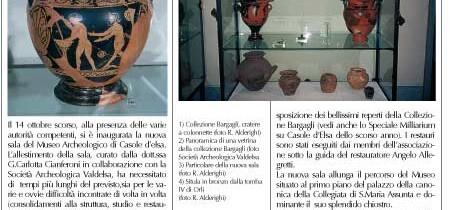 Ampliamento della sezione archeologica del Museo di Casole