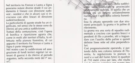 La Centuriazione nel territorio tra Firenze e Lastra a Signa
