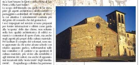 Due Chiese Romaniche nel territorio di Vinci