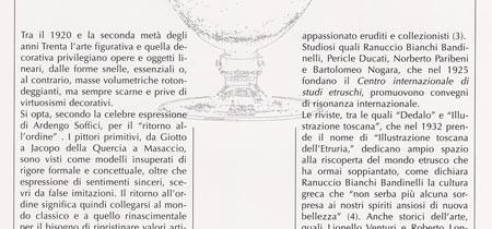 """La """"scoperta"""" dell'Arte Etrusca negli anni venti e trenta"""