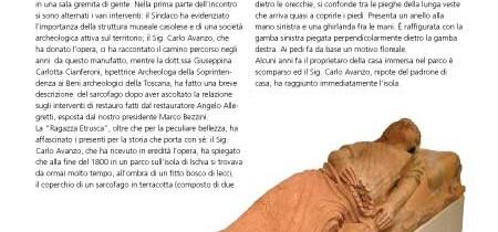 """Un dono per il Museo di Casole d'Elsa: la """"ragazza etrusca"""""""