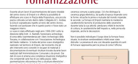 Testimonianze nel territorio di Empoli dall'arcaismo alla romanizzazione