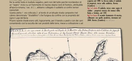 Macina romana, usata come cippo confinario