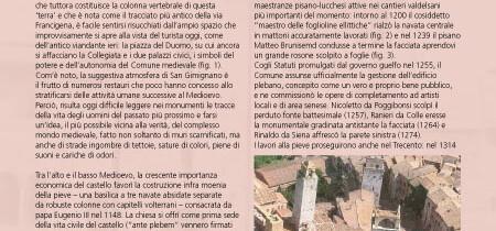 Piccole scoperte nella piazza del Duomo di San Gimignano