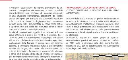 La ceramica dipinta tarda dal centro storico di Empoli
