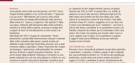Ricerche archeologiche a San Quirico di Capannori