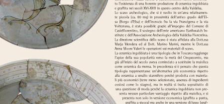 Ceramiche dallo scavo in Piazza Cavour a Caltelfiorentino
