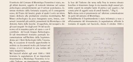 Contributo per la Carta Archeologica del Comune di Montelupo Fiorentino