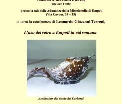 Conferenza – L'uso del vetro a Empoli in età romana
